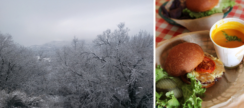 1 Snowy Trees and James Ranch Burger