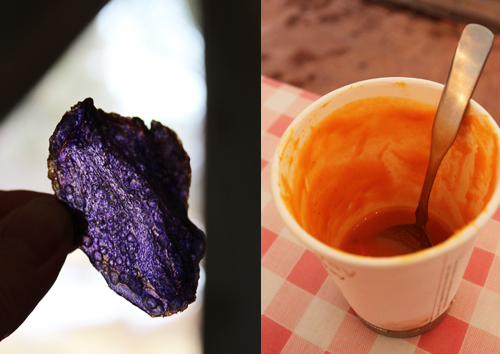 13 Purple Chip and Carrot Soup