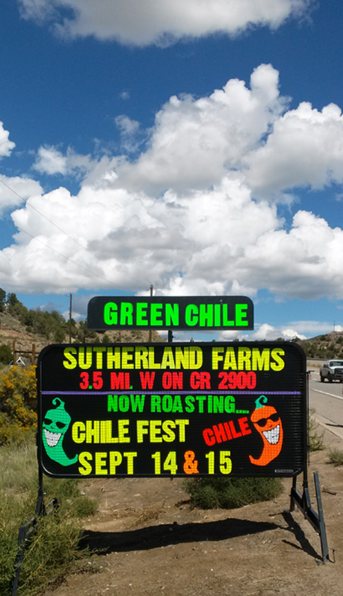 Sutherland Farms Chile Fest Sign Final