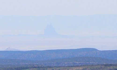 Shiprock in the Distance