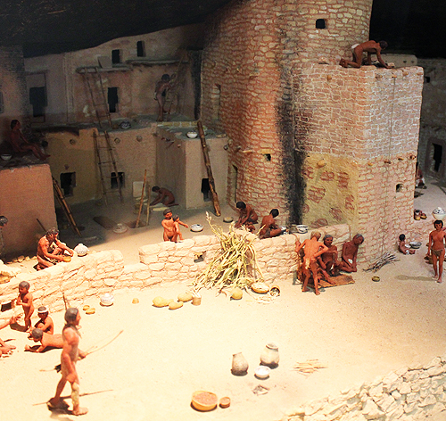 Museum Cliff Dwelling Model
