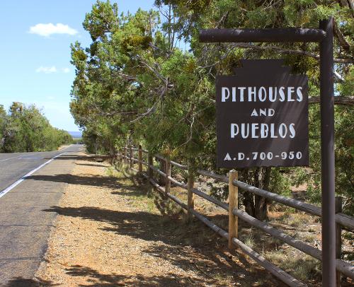 Pithouse and Pueblos Marker