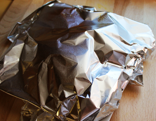 Steak Rest Covered with Foil