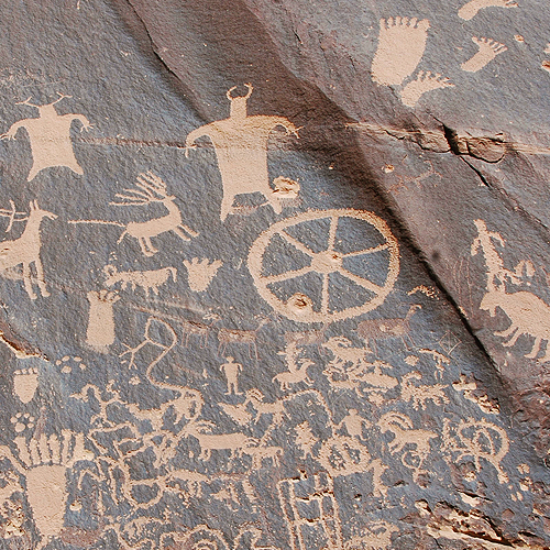 Newspaper Rock Wheel Detail