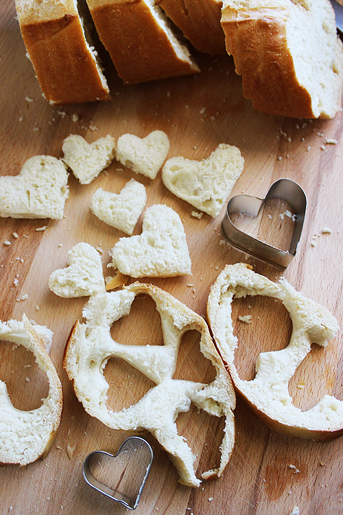 Bread Slices and Hearts