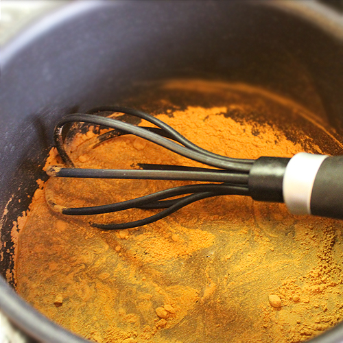 Syrup in Pan