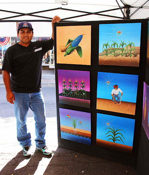 20 Hopi Painter with Children's Book Work