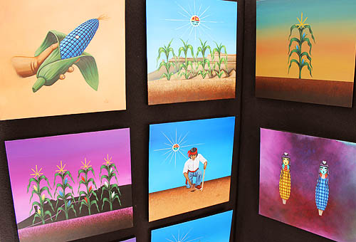 21 Corn Paintings for Book
