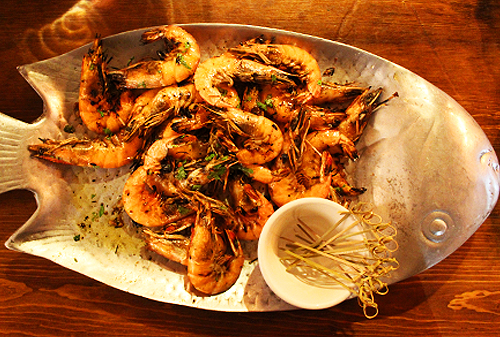 Shrimps in Fish Plate