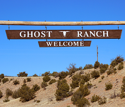 Welcome to Ghost Ranch sign