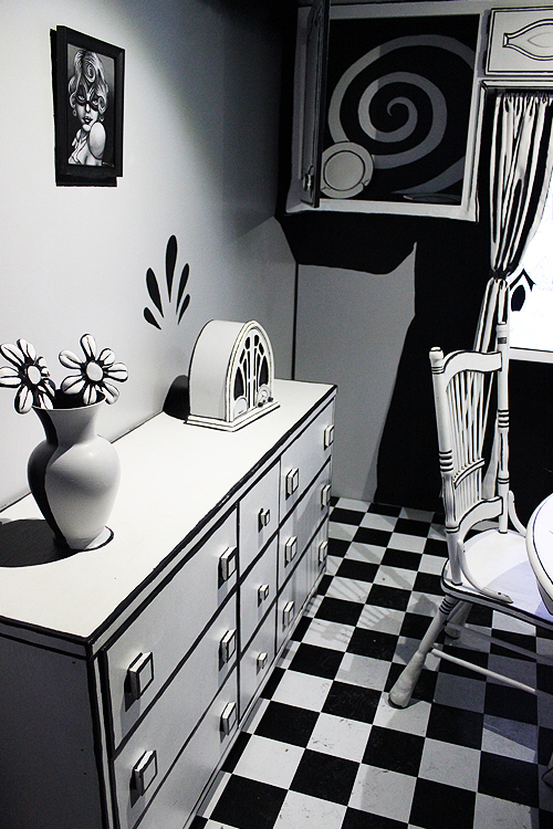 Black and White Room Meow Wolf
